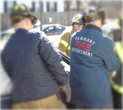 Our Diamond Quilted &amp; Denim Job Jackets on the job in Elkhart, IN